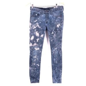 Rag and bone skinny jeans size 28 blue white